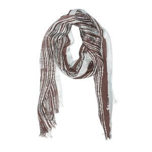 Echo | striped light blue & brown scarf